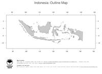 #1 Map Indonesia: political country borders (outline map)
