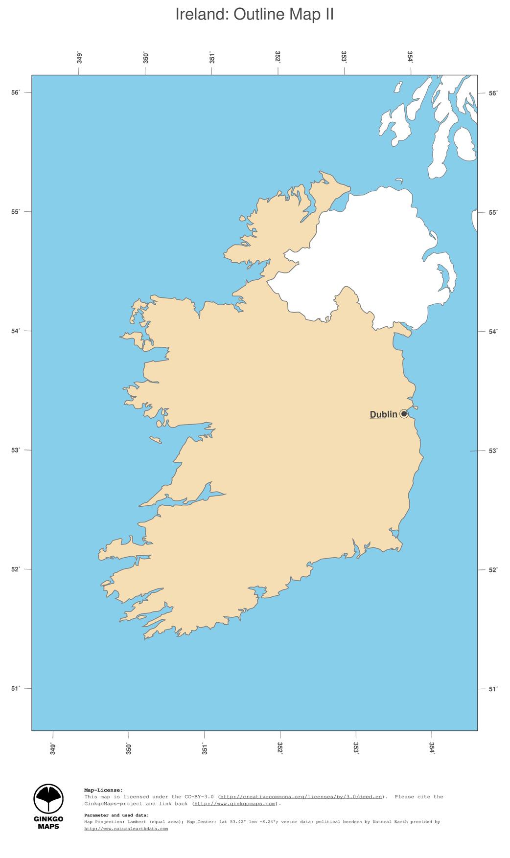 Map Of Ireland Jpg.Map Ireland Ginkgomaps Continent Europe Region Ireland