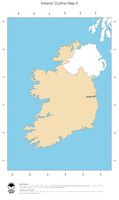 #2 Map Ireland: political country borders and capital (outline map)