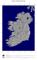 #4 Map Ireland: shaded relief, country borders and capital