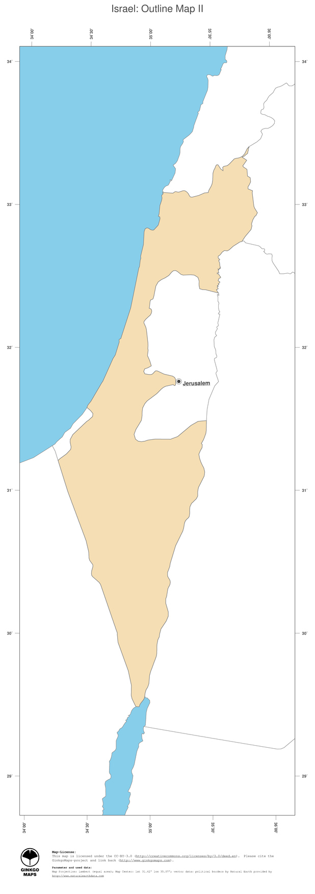 Map Israel GinkgoMaps Continent Asia Region Israel - What continent is israel in