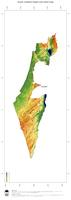 #3 Map Israel: color-coded topography, shaded relief, country borders and capital