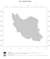 #1 Map Iran: political country borders (outline map)