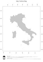 #1 Map Italy: political country borders (outline map)