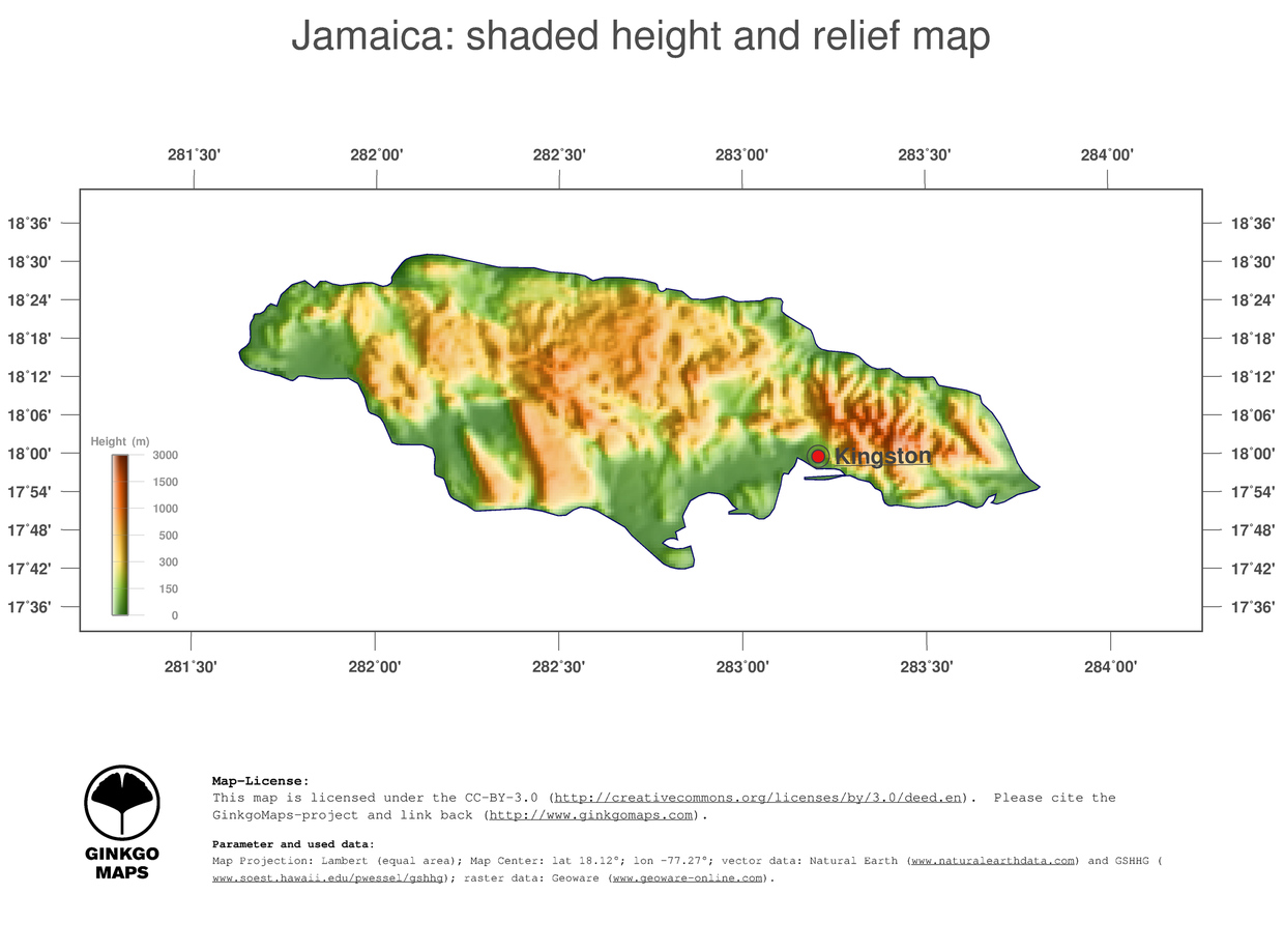 Map Jamaica; GinkgoMaps continent: South America; region: Jamaica on absolute location of jamaica, climate of jamaica, continents of jamaica, mountain of jamaica, culture of jamaica, human features of jamaica, geography of jamaica, latitude of jamaica, physical map of jamaica, elevation map of jamaica, rivers of jamaica, capital of jamaica, region of jamaica, symbols of jamaica, political map of jamaica, government of jamaica, natural resources of jamaica, island of jamaica, relative location of jamaica,