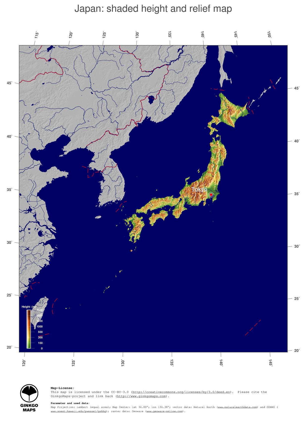 map japan ginkgomaps continent asia region japan