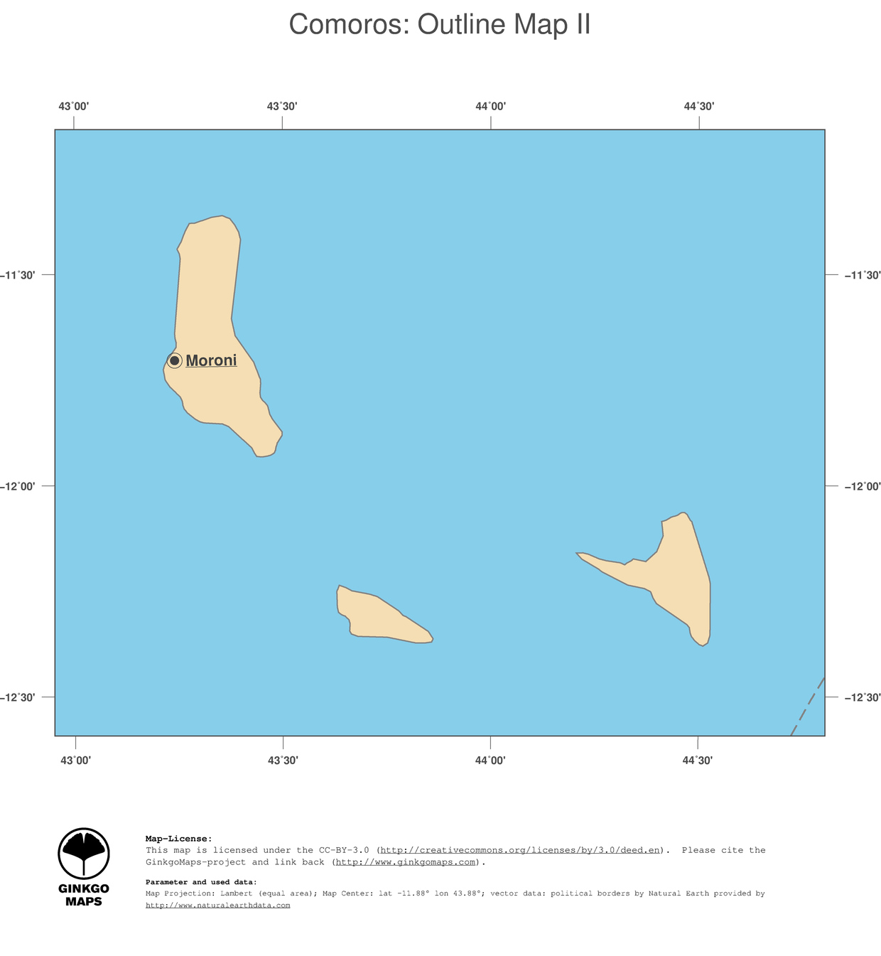 2 map comoros political country borders and capital outline map