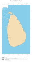 #2 Map Sri Lanka: political country borders and capital (outline map)