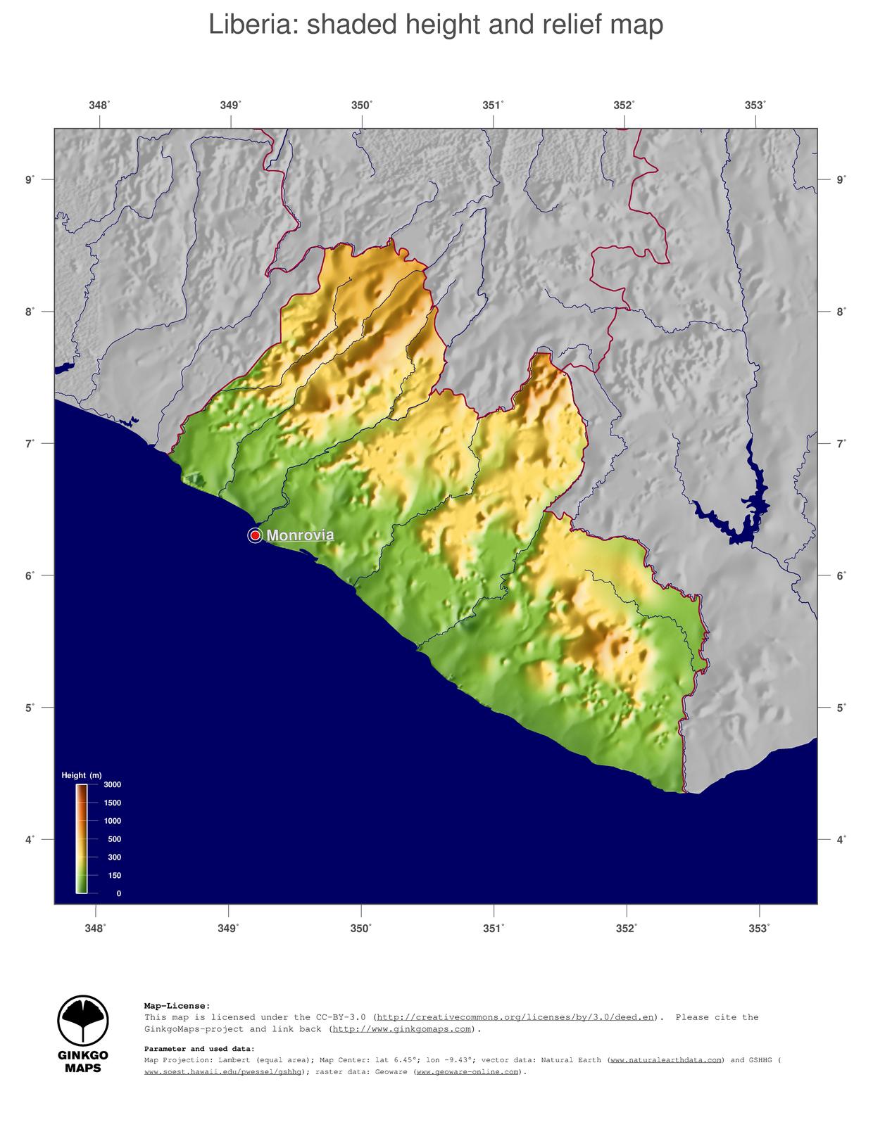 Map Liberia GinkgoMaps Continent Africa Region Liberia - Liberia map