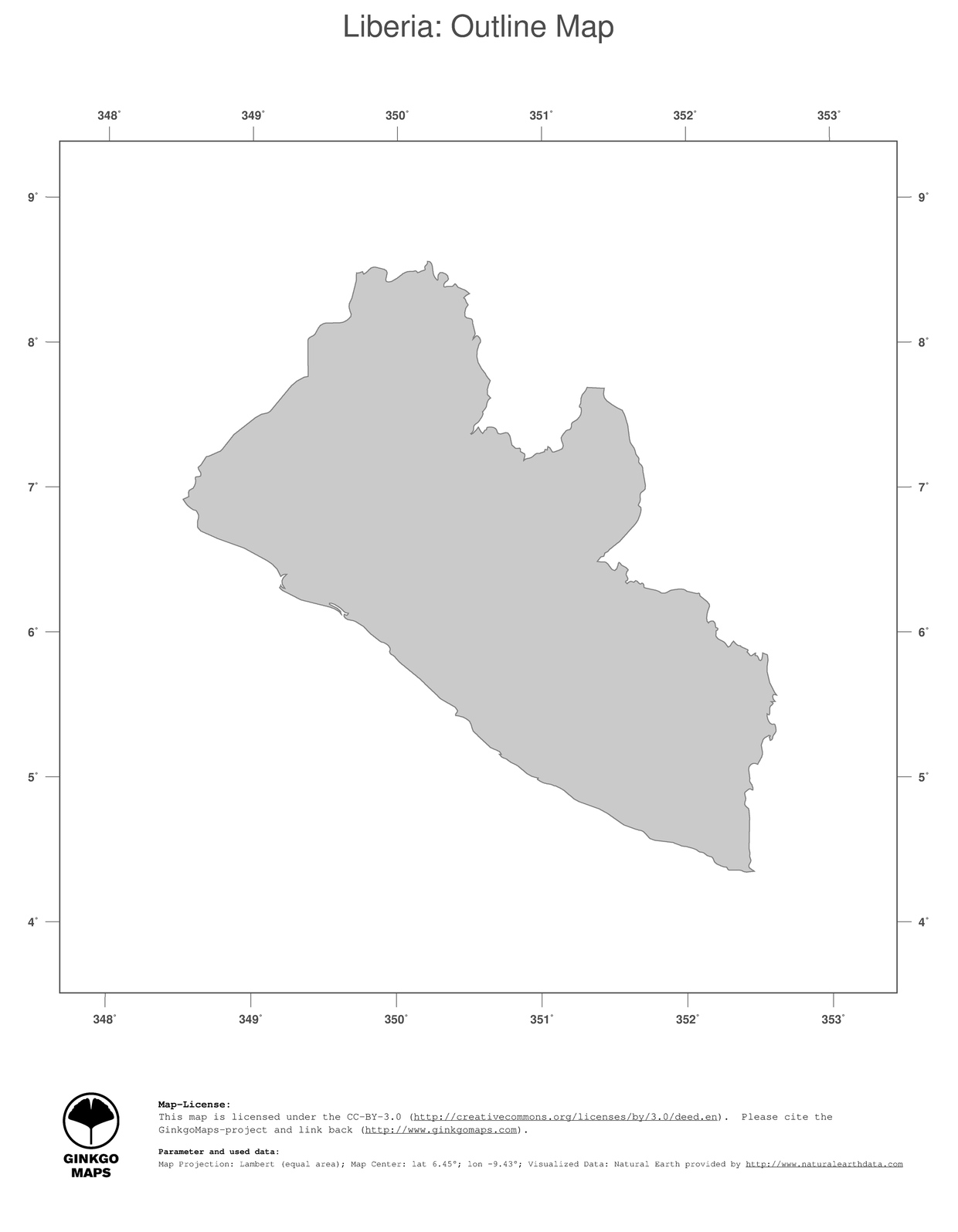 Map Liberia GinkgoMaps continent Africa region Liberia