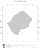 #1 Map Lesotho: political country borders (outline map)