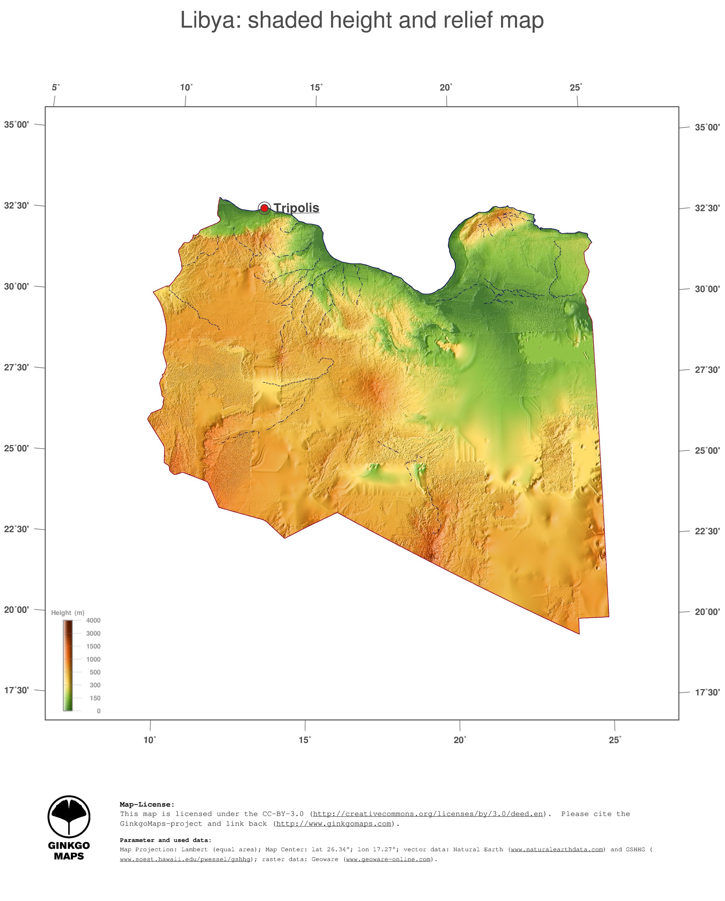 Map Libya GinkgoMaps continent Africa region Libya