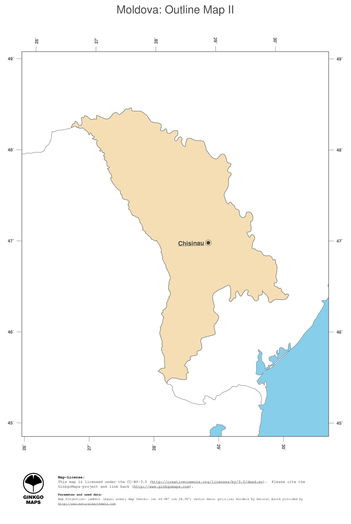 Map Moldova GinkgoMaps continent Europe region Moldova