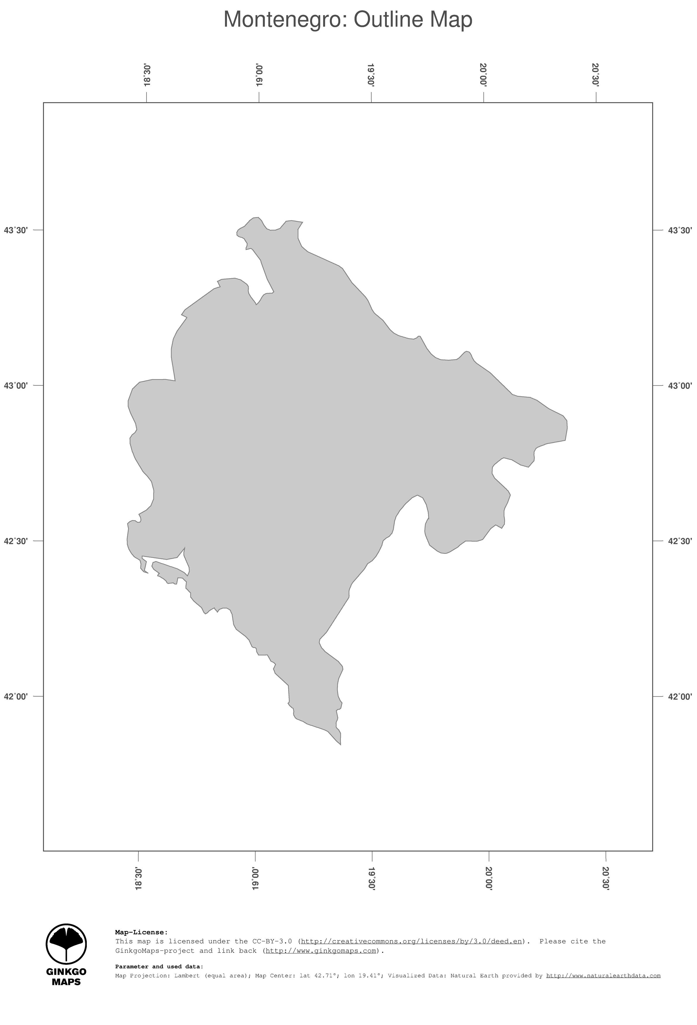 Montenegro On Europe Map.Map Montenegro Ginkgomaps Continent Europe Region Montenegro