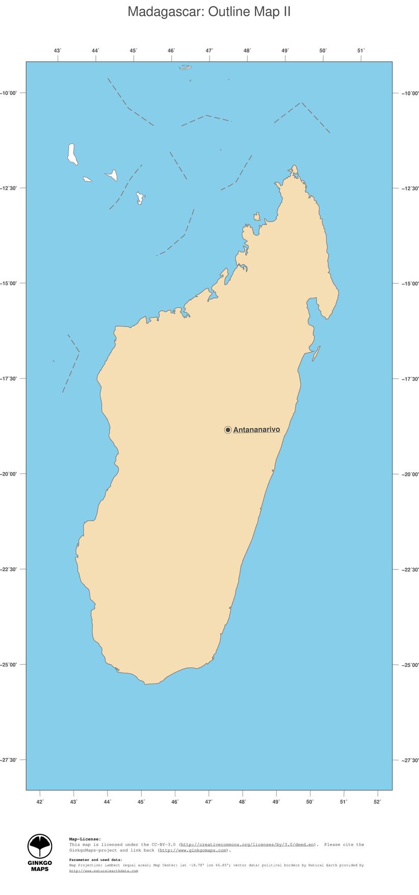 Map Madagascar Ginkgomaps Continent Africa Region Madagascar