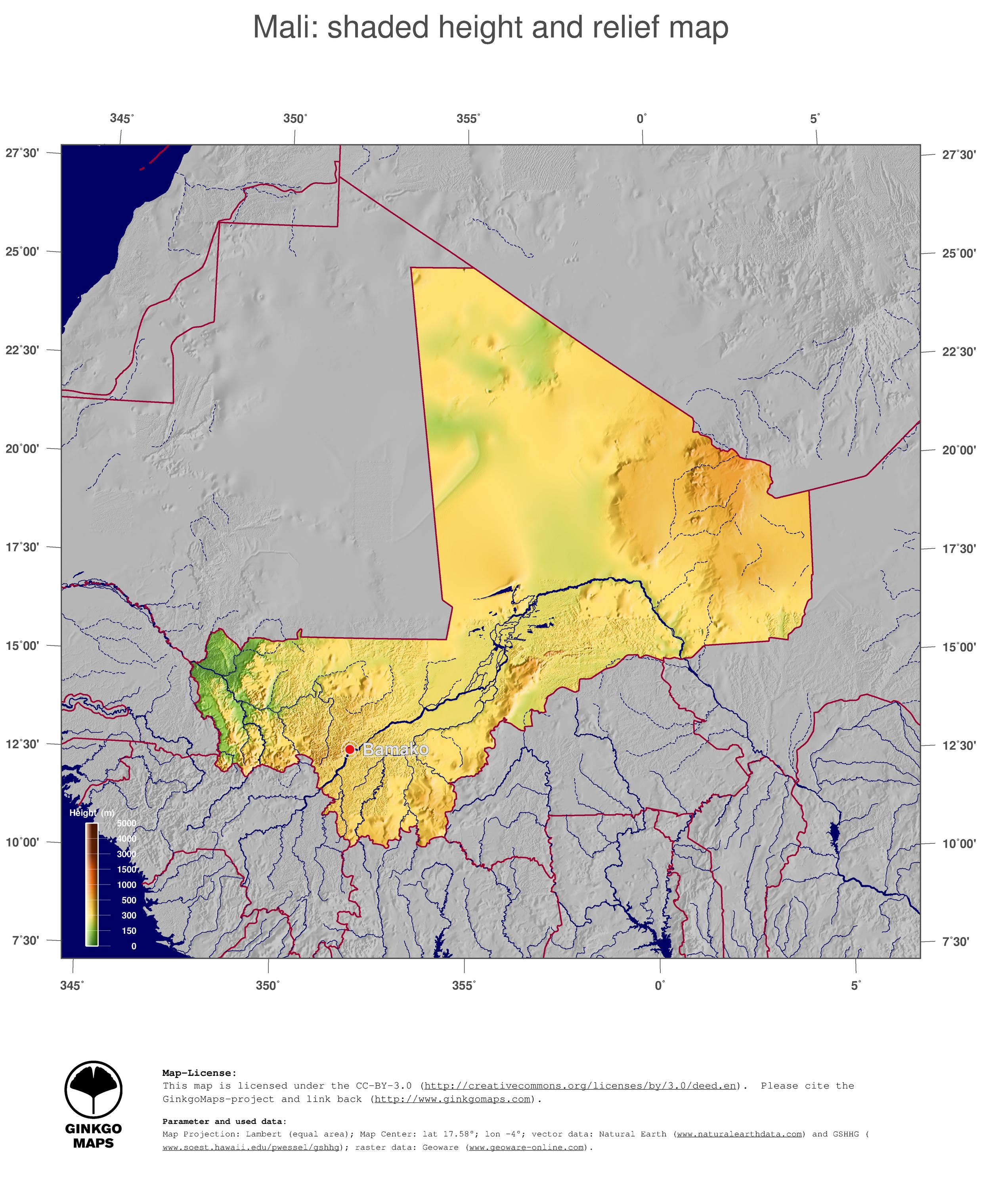 Map Mali; GinkgoMaps continent: Africa; region: Mali