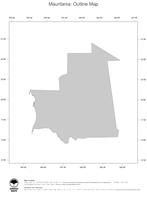 #1 Map Mauritania: political country borders (outline map)