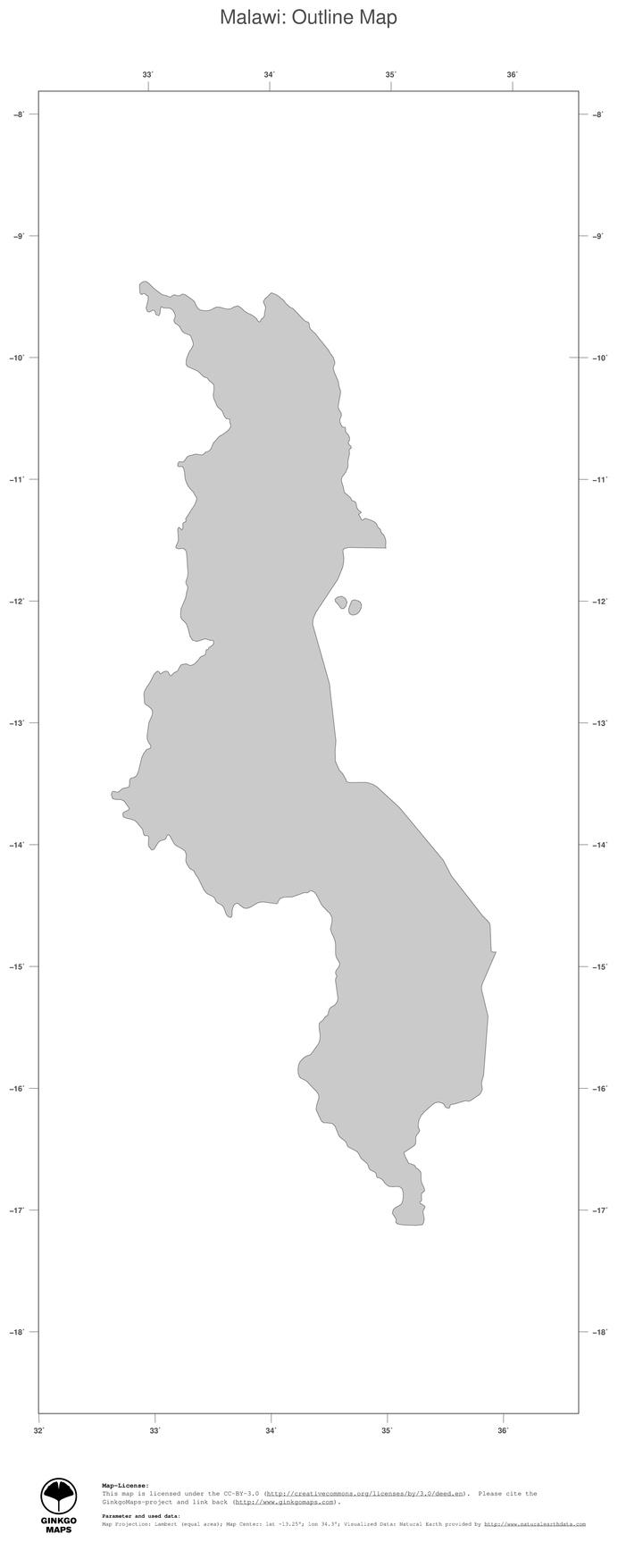 Map Malawi GinkgoMaps Continent Africa Region Malawi - Malawi blank map