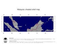#4 Map Malaysia: shaded relief, country borders and capital