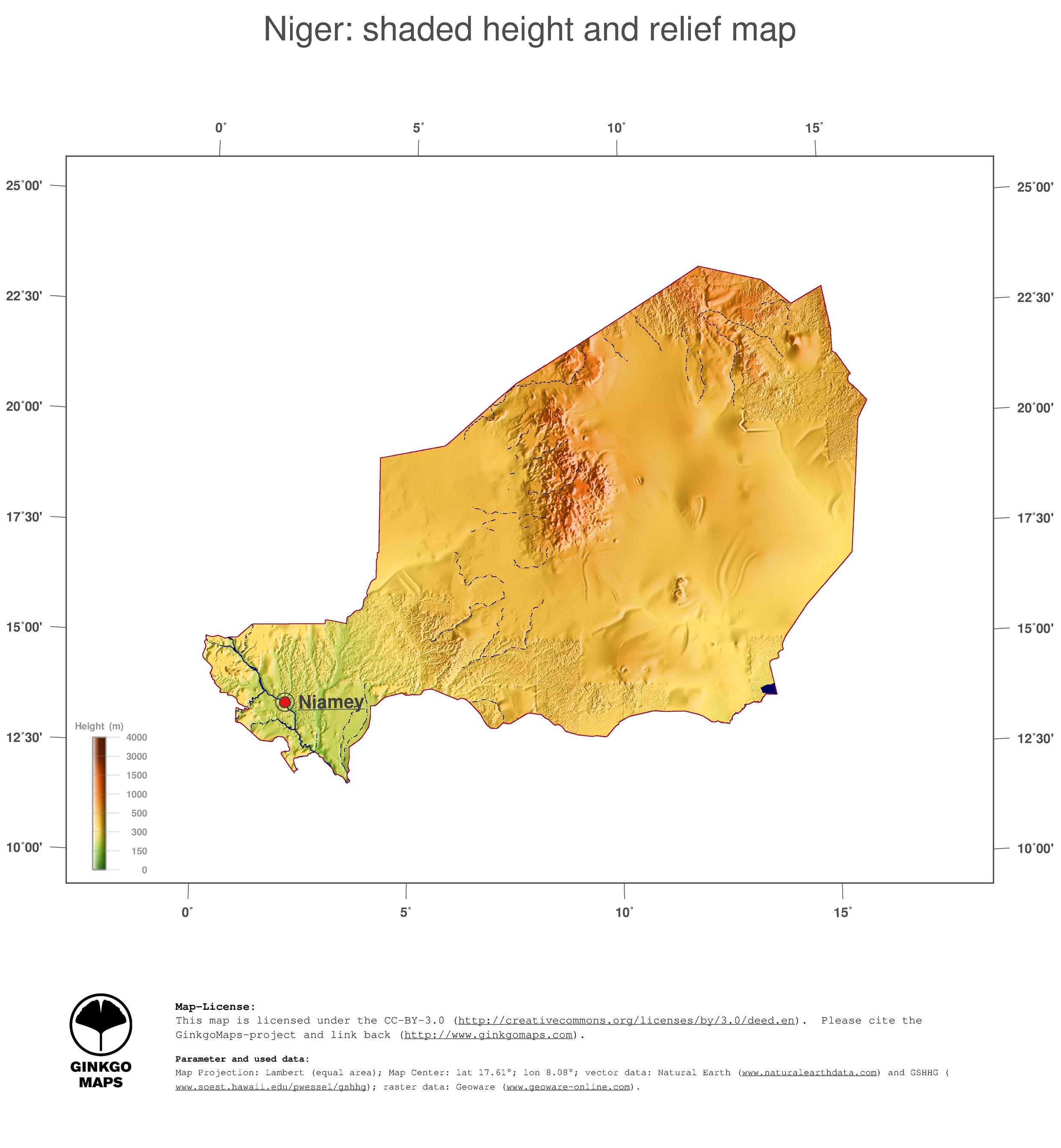 Map Niger GinkgoMaps continent Africa region Niger