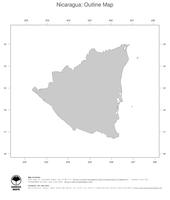 #1 Map Nicaragua: political country borders (outline map)