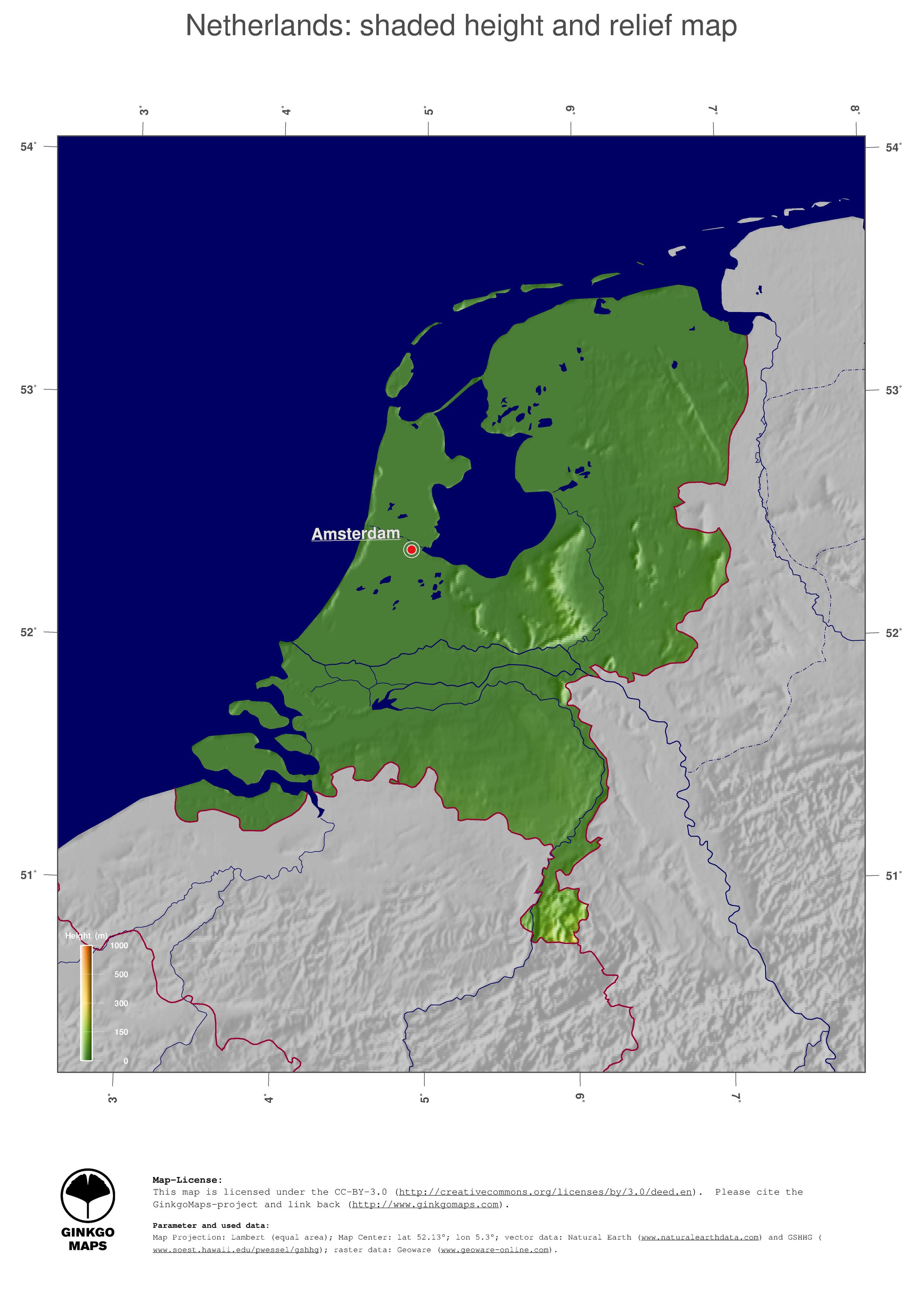 JPG 3498 x 2480 pxl Map Netherlands