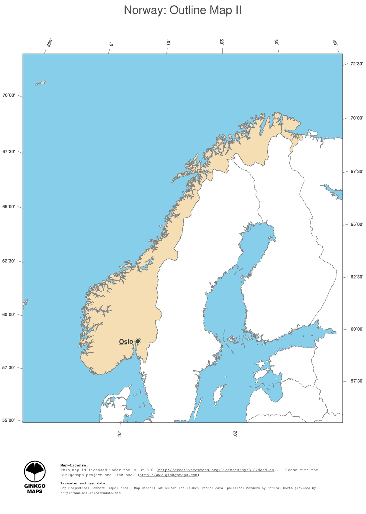 Map Norway GinkgoMaps Continent Europe Region Norway - Norway map of europe