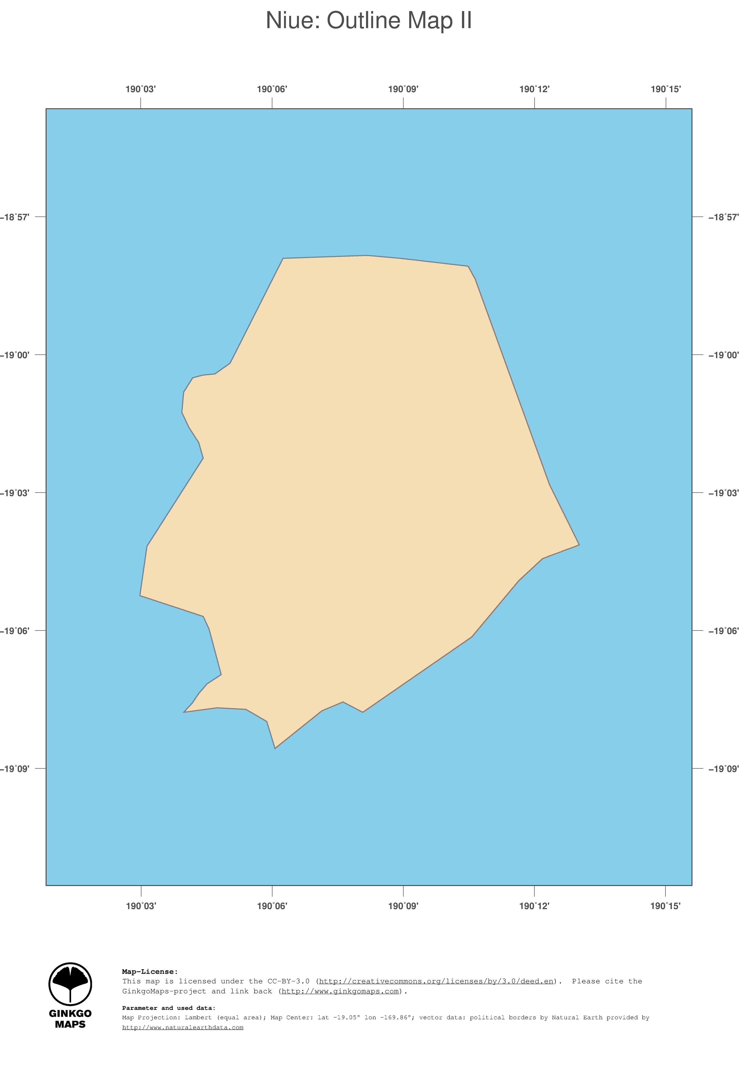 Map Niue GinkgoMaps Continent Oceania Region Niue - Niue map