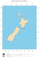 #2 Map New Zealand: political country borders and capital (outline map)
