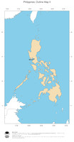 #2 Map Philippines: political country borders and capital (outline map)