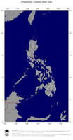 #4 Map Philippines: shaded relief, country borders and capital