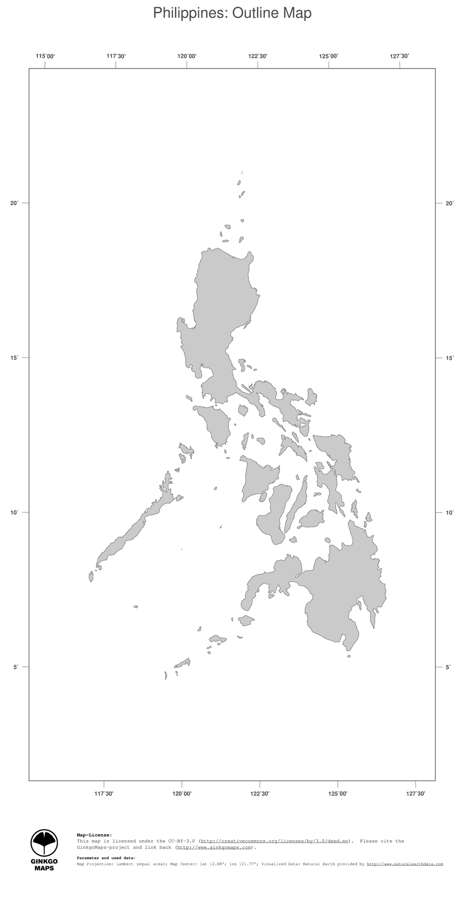 Map Philippines GinkgoMaps Continent Asia Region Philippines - Map philippines