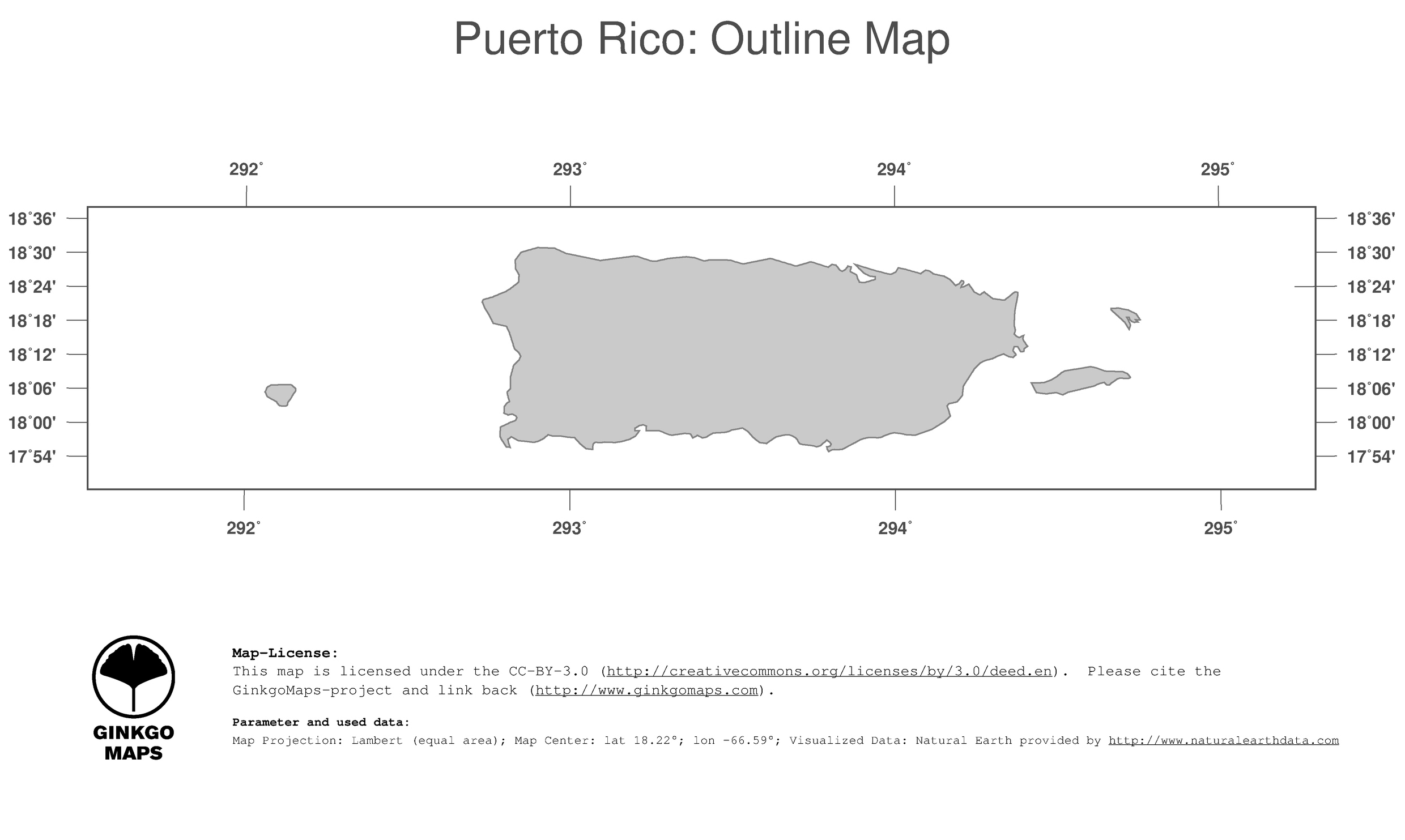 map puerto rico ginkgomaps continent south america region