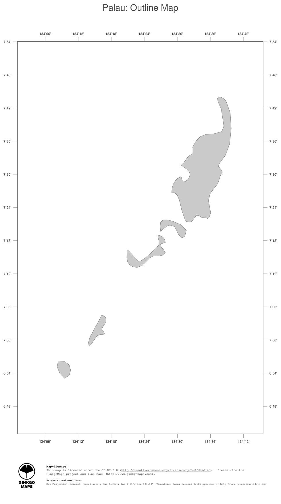 Map Palau GinkgoMaps Continent Oceania Region Palau - Palau map
