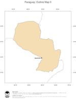 #2 Map Paraguay: political country borders and capital (outline map)