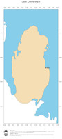 #2 Map Qatar: political country borders and capital (outline map)