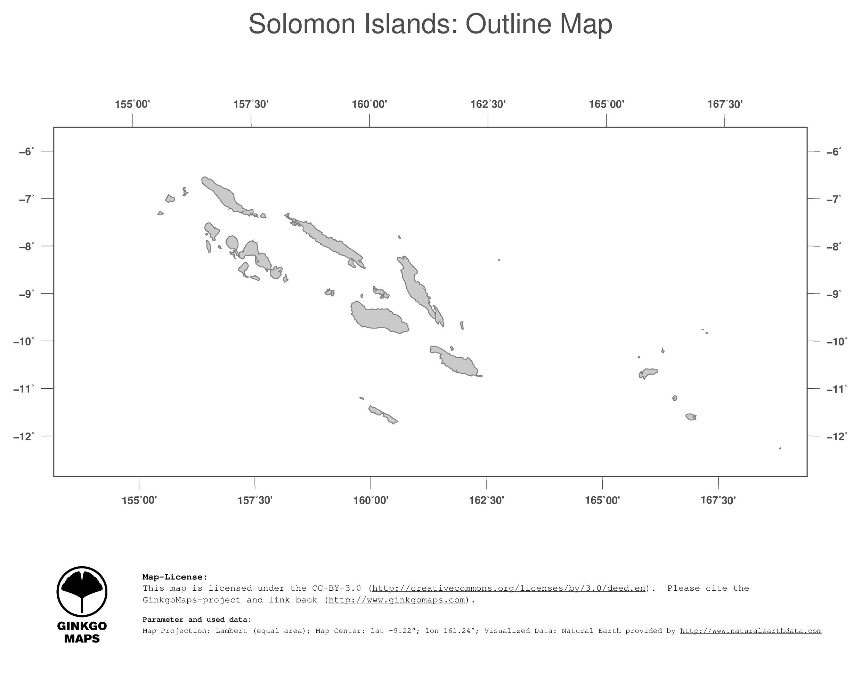 Map Solomon Islands