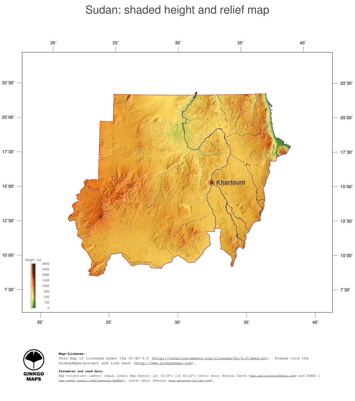 Map Sudan GinkgoMaps Continent Africa Region Sudan - What continent is sudan in