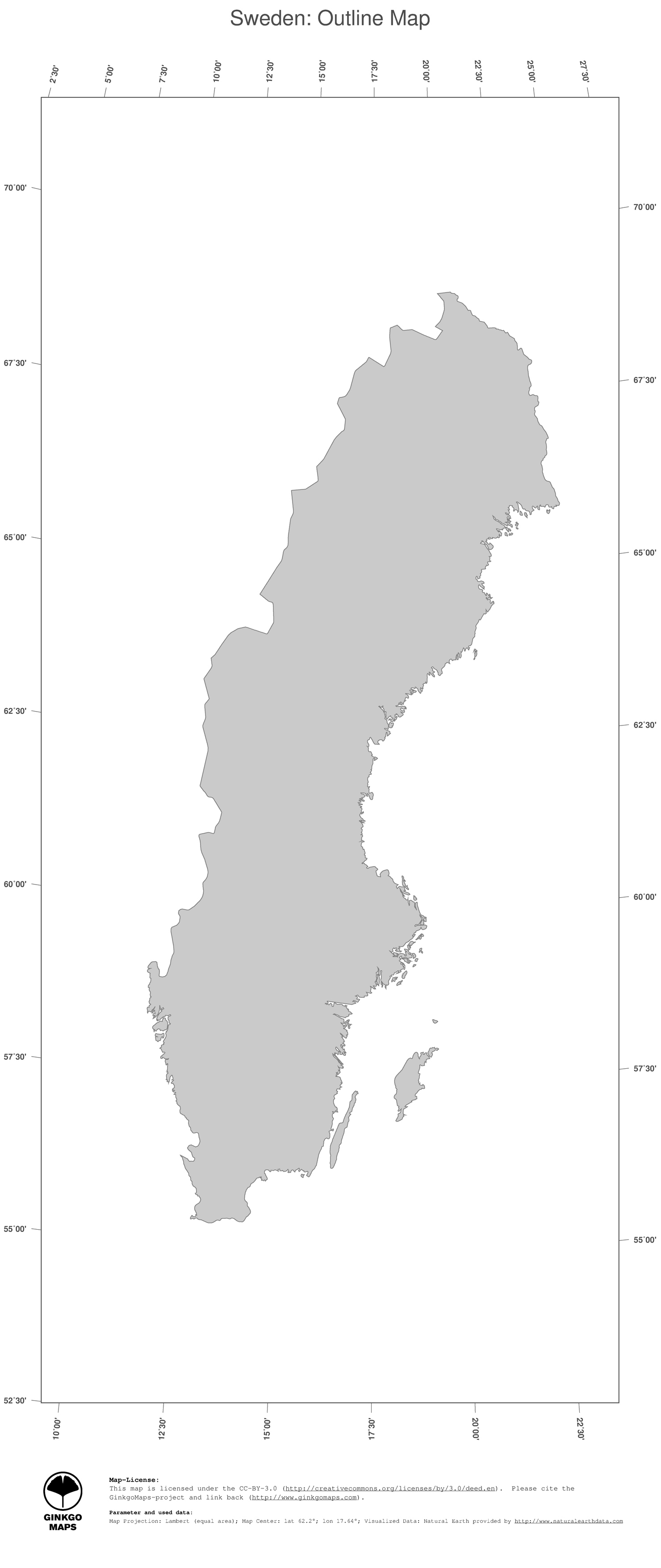Map Sweden GinkgoMaps Continent Europe Region Sweden - Sweden map jpg