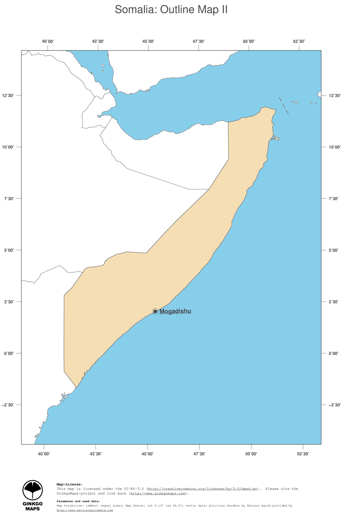 Map Somalia GinkgoMaps continent Africa region Somalia