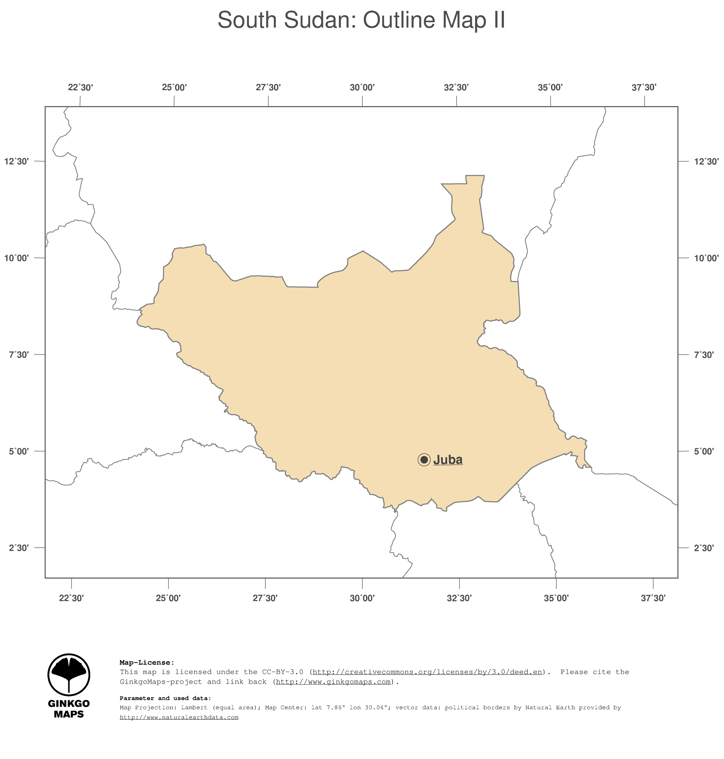 Map South Sudan GinkgoMaps Continent Africa Region South Sudan - What continent is sudan in