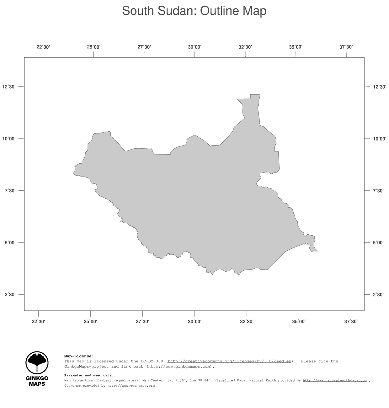 Political Map Of South Sudan.Map South Sudan Ginkgomaps Continent Africa Region South Sudan
