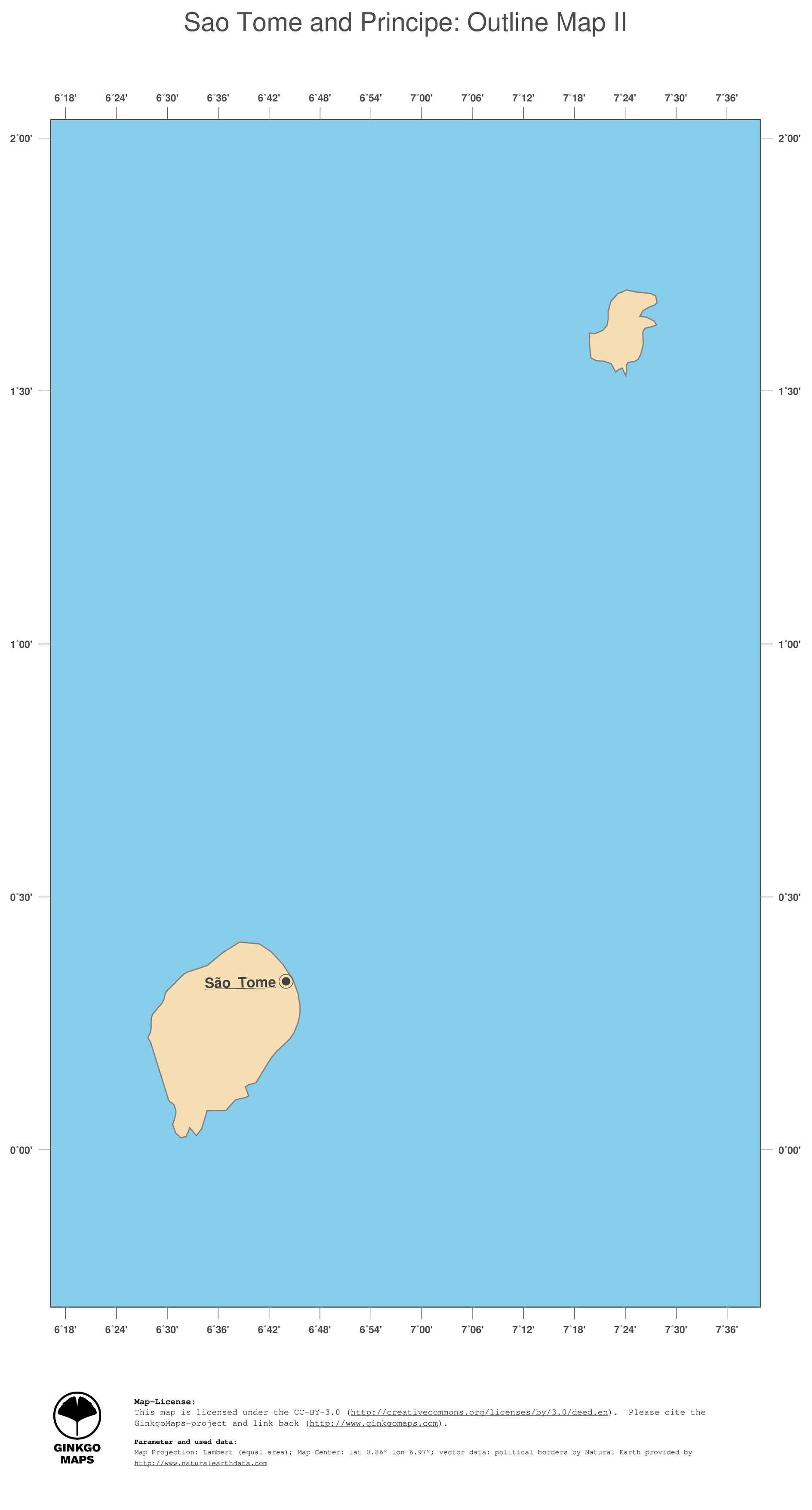 Map Sao Tome and Principe GinkgoMaps continent Africa region Sao