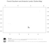 #1 Map French Southern and Antarctic Lands: political country borders (outline map)