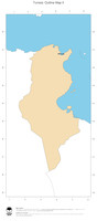 #2 Map Tunisia: political country borders and capital (outline map)