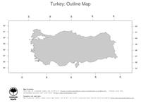#1 Map Turkey: political country borders (outline map)
