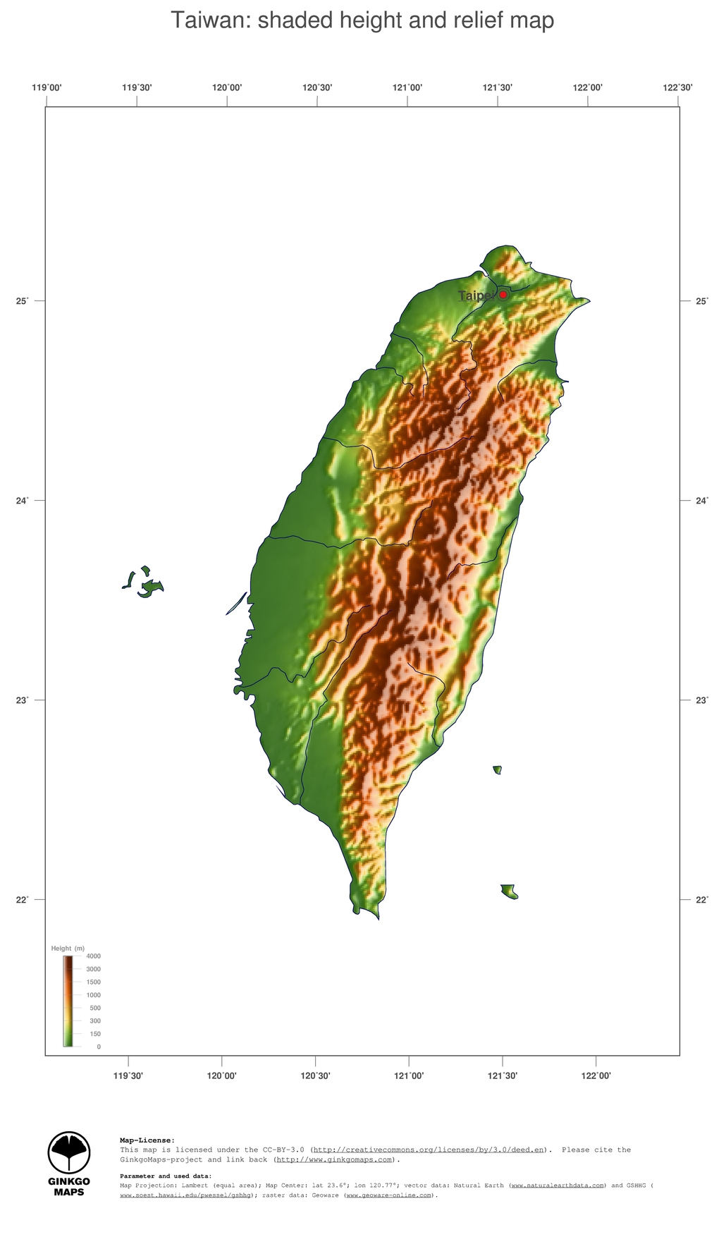 Map Taiwan GinkgoMaps Continent Asia Region Taiwan - Map of taiwan