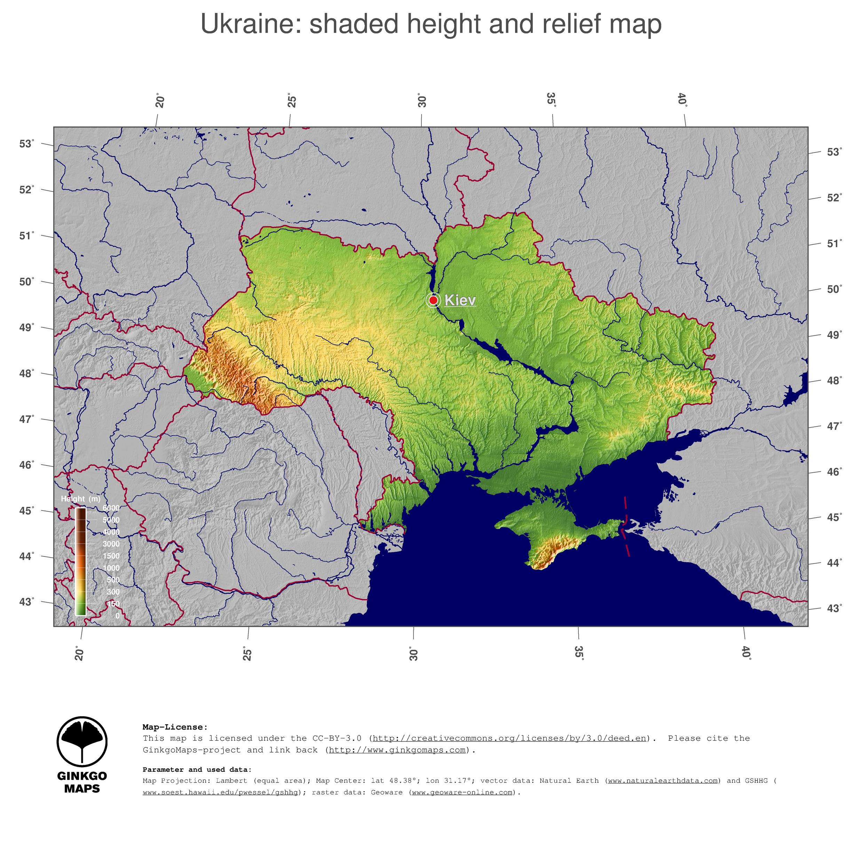 Map Ukraine GinkgoMaps continent Europe region Ukraine