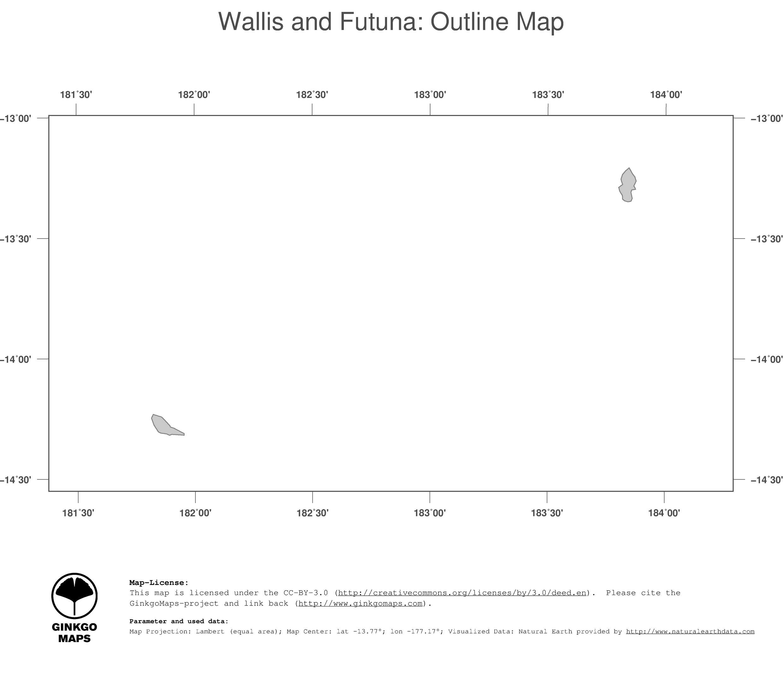 Map Wallis and Futuna GinkgoMaps continent Oceania region Wallis