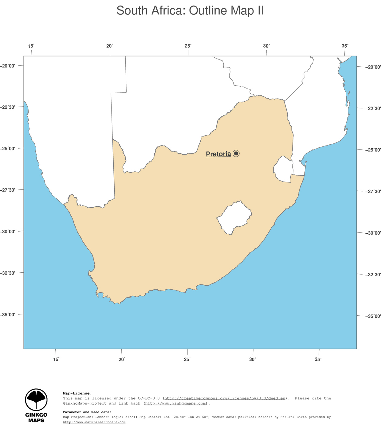 Map South Africa GinkgoMaps Continent Africa Region South Africa - South africa political map